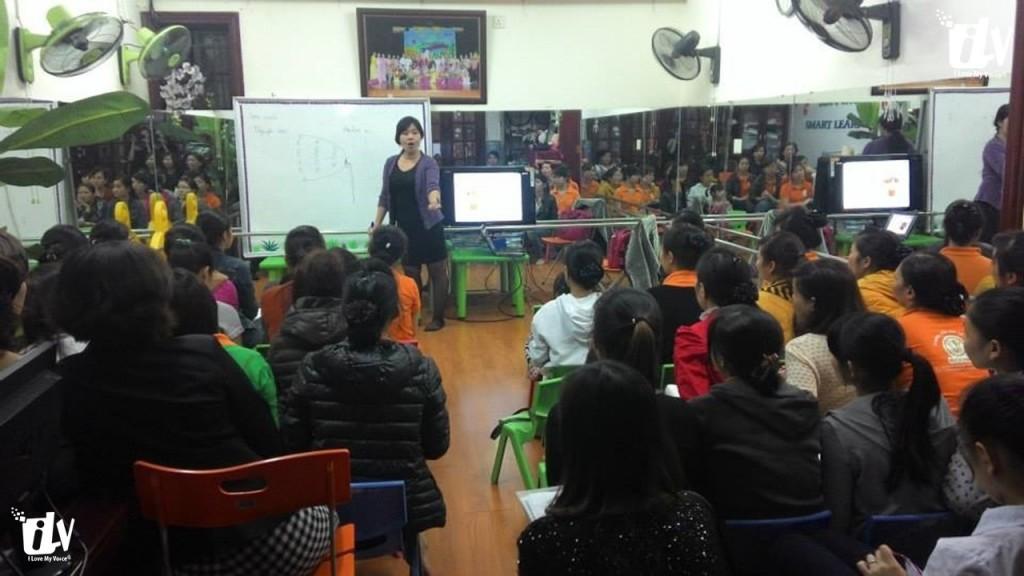 Luyện Giọng nói, khỏe, truyền cảm tại Trường mẫu giáo KidsHome.