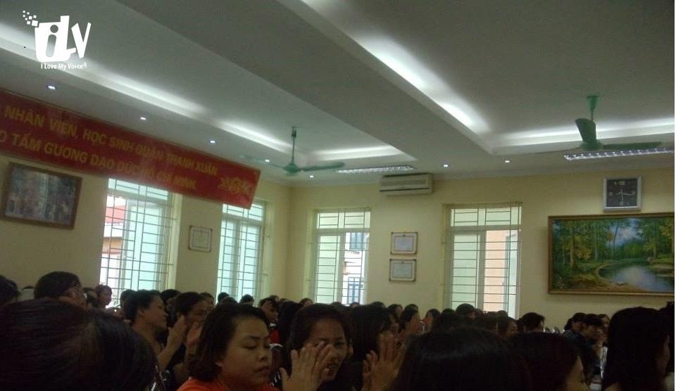 Giao lưu Giọng nói Việt tại Trường Mẫu giáo Thanh Xuân